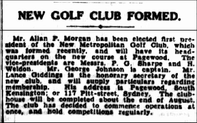 SMH 1937-07-03 New Metropolitan GC Formed2